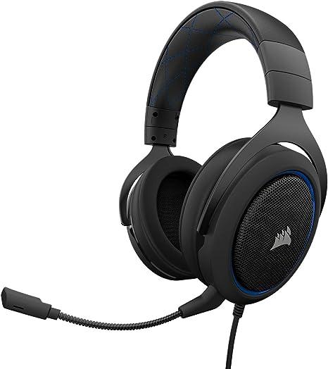 Corsair HS50 Stereo - Auriculares gaming con micrófono desmontable ...