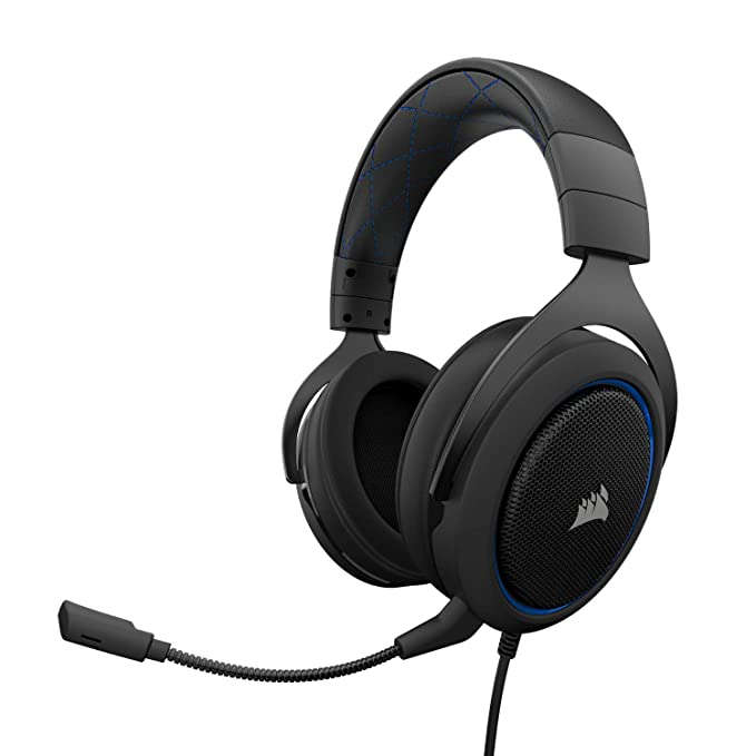 Corsair HS50 Stereo - Auriculares gaming con micrófono desmontable (para PC/PS4/Xbox/Switch/móv...
