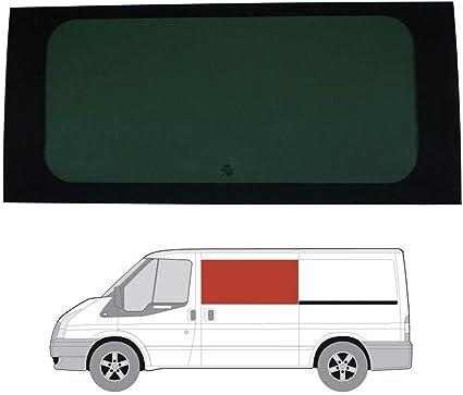 Mano izquierda, tintado oscuro fijo ventana para Ford Transit (00 – 13) [MWB; LWB] puerta corredera: Amazon.es: Coche y moto