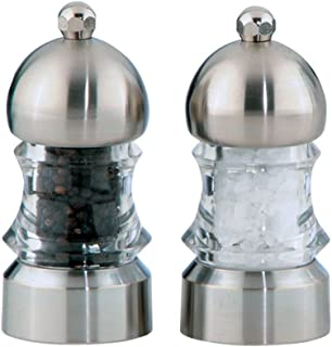 """product image for Chef Specialties 3.5"""" Metro Pepper Mill and Salt Mill Set, Clear"""