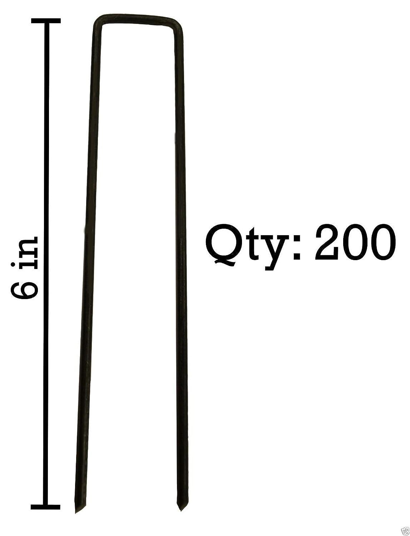 "(Ship from USA) Sandbaggy 200 6"" Landscape Staples~SOD Staples Garden Stakes Square Pins /ITEM NO#E8FH4F85459556"