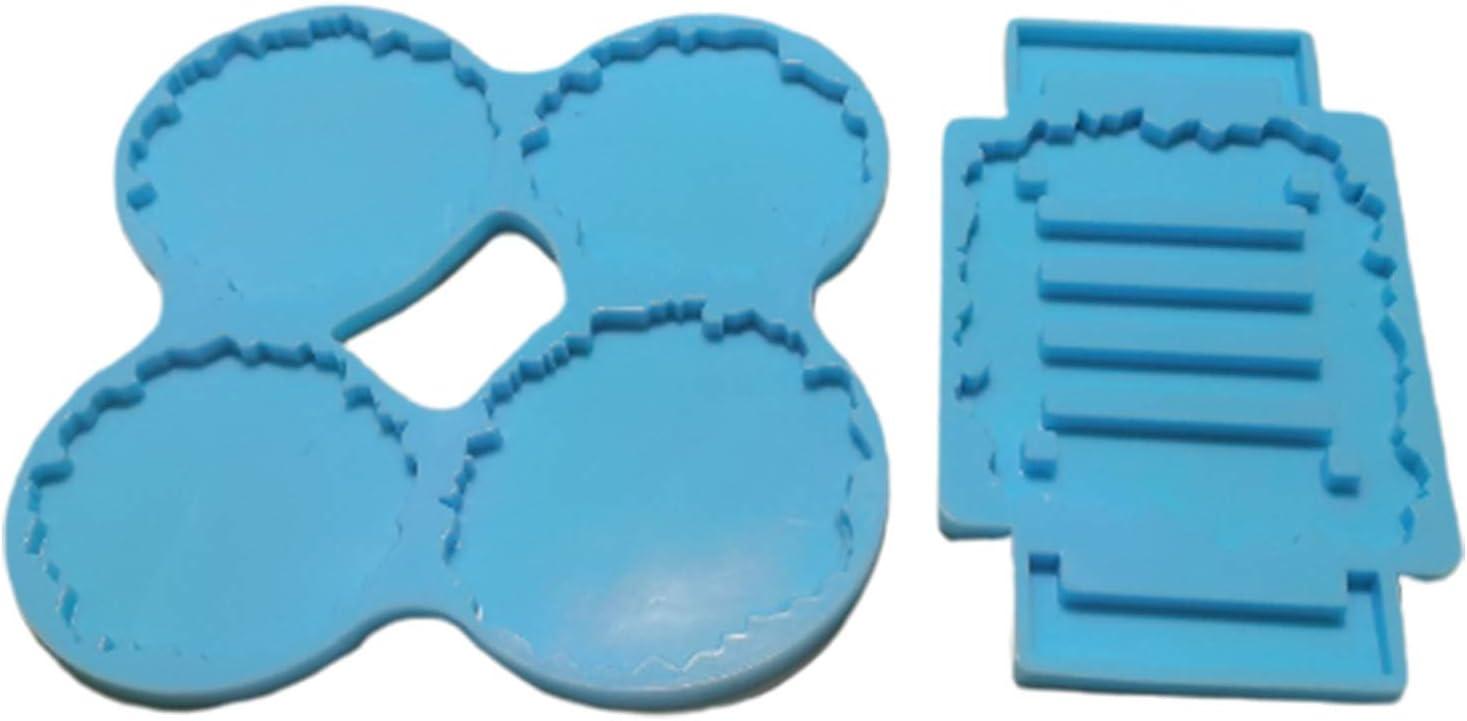 Silicone Coaster Mat Storage Holder Set Resin Casting Mold Epoxy Mould DIY MjPeM
