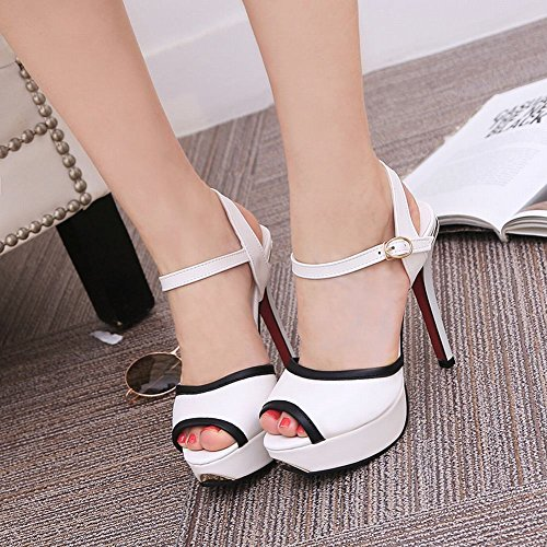 Plateformes Femmes Hauts Chaussures Sandales MissSaSa Blanc Talons TwnAAx