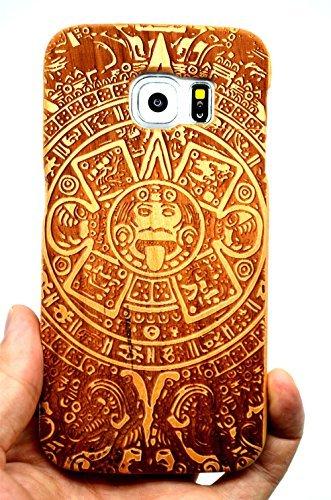 26 opinioni per RoseFlower® Samsung Galaxy S6 Legno Custodia- Maya legno ciliegio- Qualit à