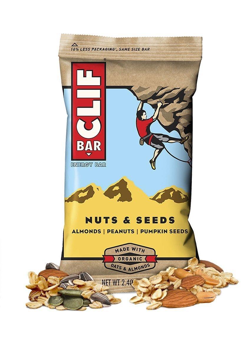 Clif Bar, Energy Bar , Nuts & Seeds , 2.4 oz , Pack of 12