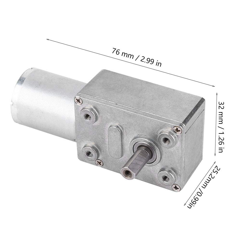 DC 12//24V Brushless Worm Motor Speeds Reduction Gear Motor 4~150Rpm for Robots Locks 12V-40 Gear Motor