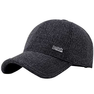Image Unavailable. Image not available for. Colour  Suberde Men Adjustable  Snapbacks Hat Winter Ear Flap Baseball Golf ... 444687452a2