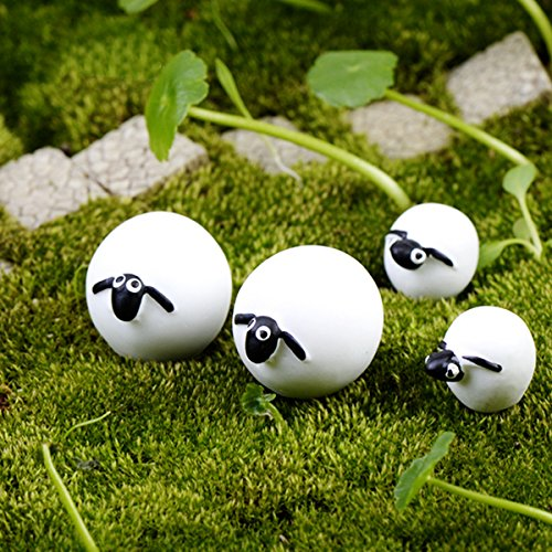6x Mini Sheep Bonsai Resin Garden Miniature Fairy Garden Terrarium ()