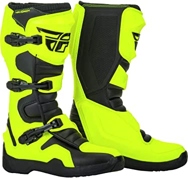 Youth Size Fly Racing Maverick MX Offroad Boots Hi-Vis Yellow//Black SIze 2 5 4