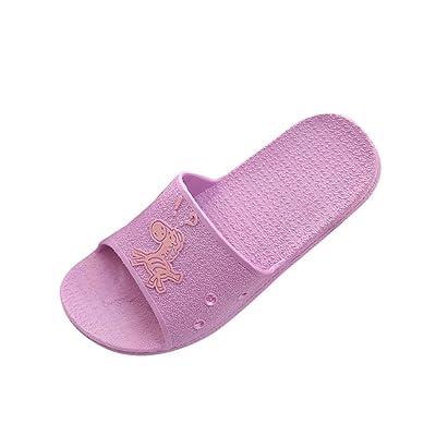 GreatestPAK_Chaussures Pantoufles de Plage Chaussons La Mode D'Été Animal Imprime des Sandales Anti-Dérapant Plat Bain Pour Femme GreatestPAK