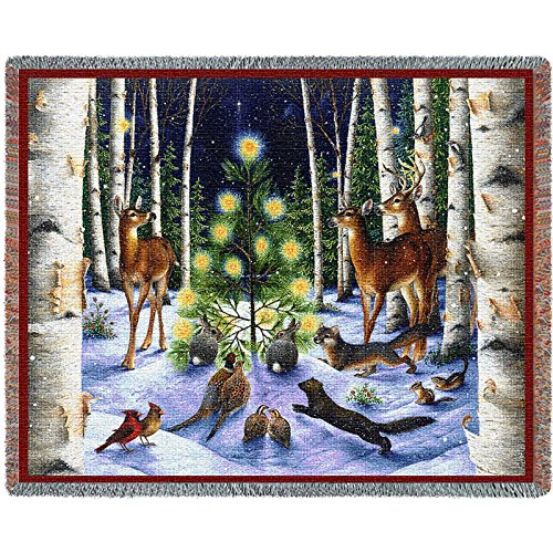 Pure Country Inc. a Simple Tree Blanket Tapestry Throw