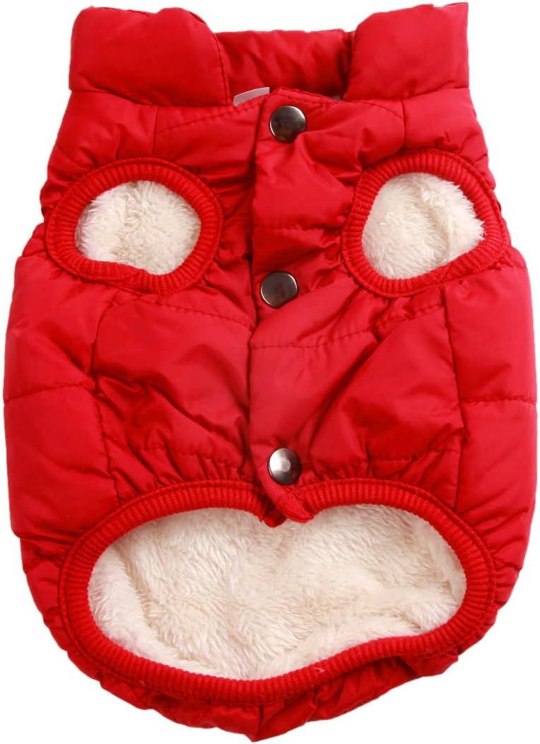 JoyDaog - Chaqueta de perro con forro polar de 2 capas para invierno