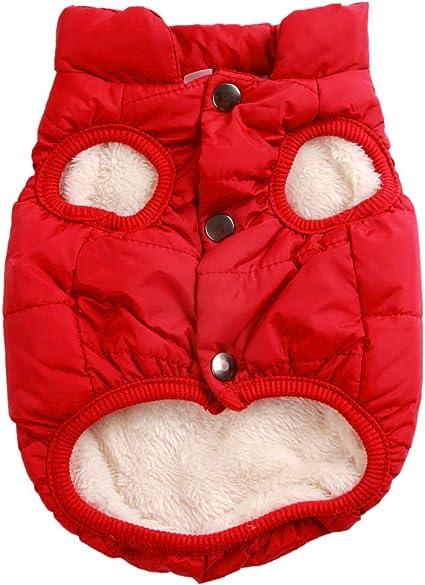 Chaqueta de Forro Polar para Perro Muy c/álida Resistente al Viento para Perros Extra Suave JoyDaog 2 Capas para Invierno y Clima fr/ío