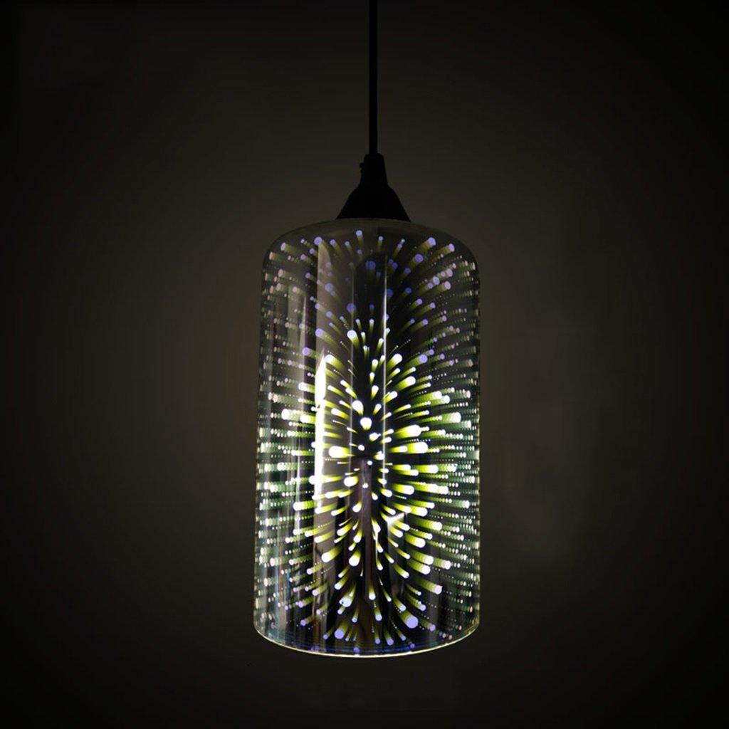 SX-ZZJ Indoor Lighting Chandelier 3D Glass Chandelier Art Lights Creative Personality Retro Restaurant Living Room Bedroom Bar Bar