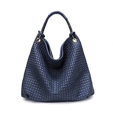 03a4fac87c Amazon.com  Lanyani Hobo Purses Large Handbags Fashion Shoulder Bags  Designer Hand-Woven Tote for Women and Ladies Faux Leather  Shoes