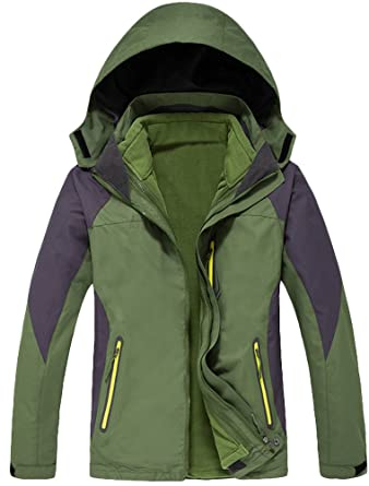 MatchLife Unisex Couple WindProof Jacket Mountain Hiking Sports Hoodie  Mantel S Armee Grün Herren
