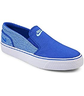 best sneakers da0cd b9a53 Nike Women s Toki Slip Canvas Fashion Sneakers Racer Blue 724770 443