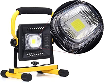 Portable 50W COB LED Work Light Rechargeable Flood Light Outdoor Camping Lamp