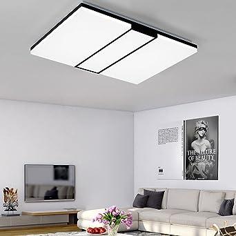 Led Deckenleuchte Moderne Einfache Schwarze Und Weiße Wohnzimmer Lichter  Ultra Dünne Acryl Rechteckige Deckenbeleuchtung Wohnzimmer