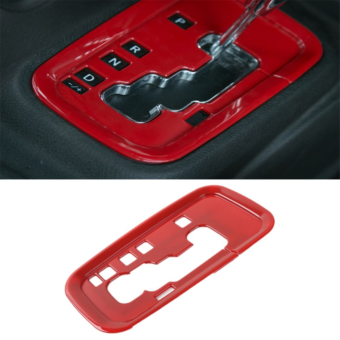 YOCTM Car Gear Shift Plate Shifter Transfer Full Cover Decoration Interior Trims Carbon Fiber Look ABS for Jeep Wrangler 2011-2017 Car Styling Accessories