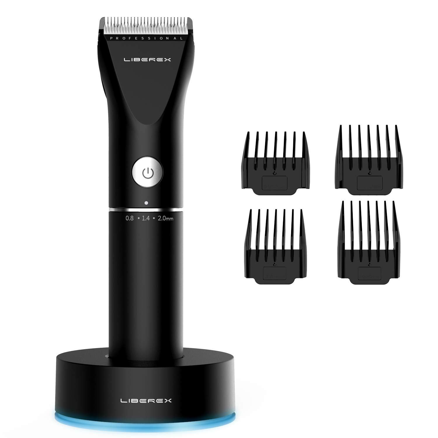 Hair Clippers - Liberex Professional Cordless Electric Hair Cutter Machine Kit Rechargeable Wireless Hair Grooming Trimmers Set for Men Kids Babies Family Home with 4 Guide Combs, Charging Base