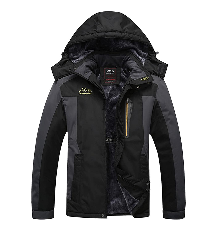 d7f71abfeccd3 Amazon.com: Liangpin Men's Waterproof Ski Jacket Lined Faux Furs ...