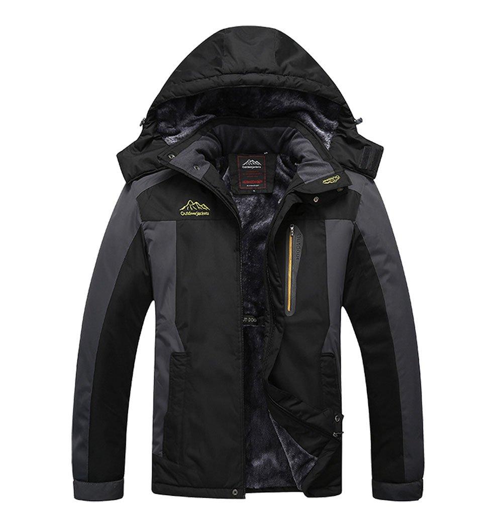 Liangpin Women Waterproof Ski Jacket Insulted Fleece Winderproof Snow Jackets for Snowboarding Black Plus Size 1X