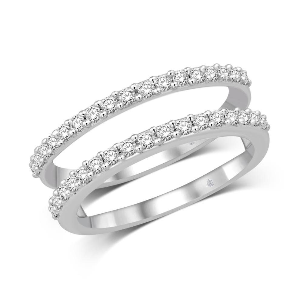 14K White Gold 1/2 Ct.Tw. Diamond Enhancer