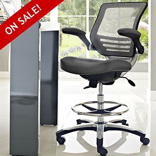 Hydraulic Drafting Stool With Arms Guitar Chair Rolling Architecture Adjustable Office Chair On Wheels Counter Height Mesh Back Ergonomic Padded Studio Reception Desk Chair Comfy And eBook By NAKSHOP by MW