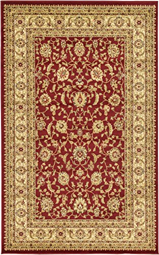 A2Z Rug Red 5' x 8' - Feet Agra Area Rug - Rectangle