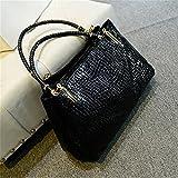 Meolin Women Large Handbag Tote Purse Shoulder Bag Faux Leather Bag,black,35829cm