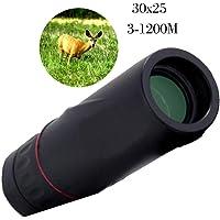 Prapra Fast HD Monocular Telescope 30x25 Zoom Focus Green Film Blue Membrane Mini Optical Scope Hunting Surveillance