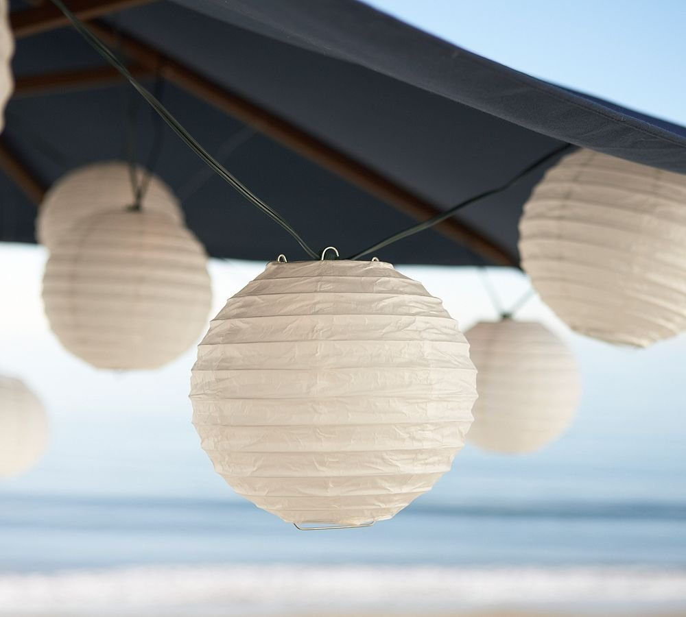 WYZworks 30 Packs White Paper Lanterns with Assorted Sizes for Wedding Party Decorations 8'' 12'' 16''