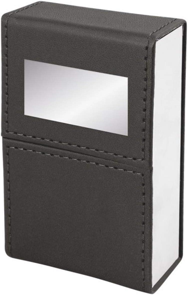 SILBERKANNE Zigarettenetui Schwarz 9x6x3 cm Silber Plated versilbert in Premium Verarbeitung
