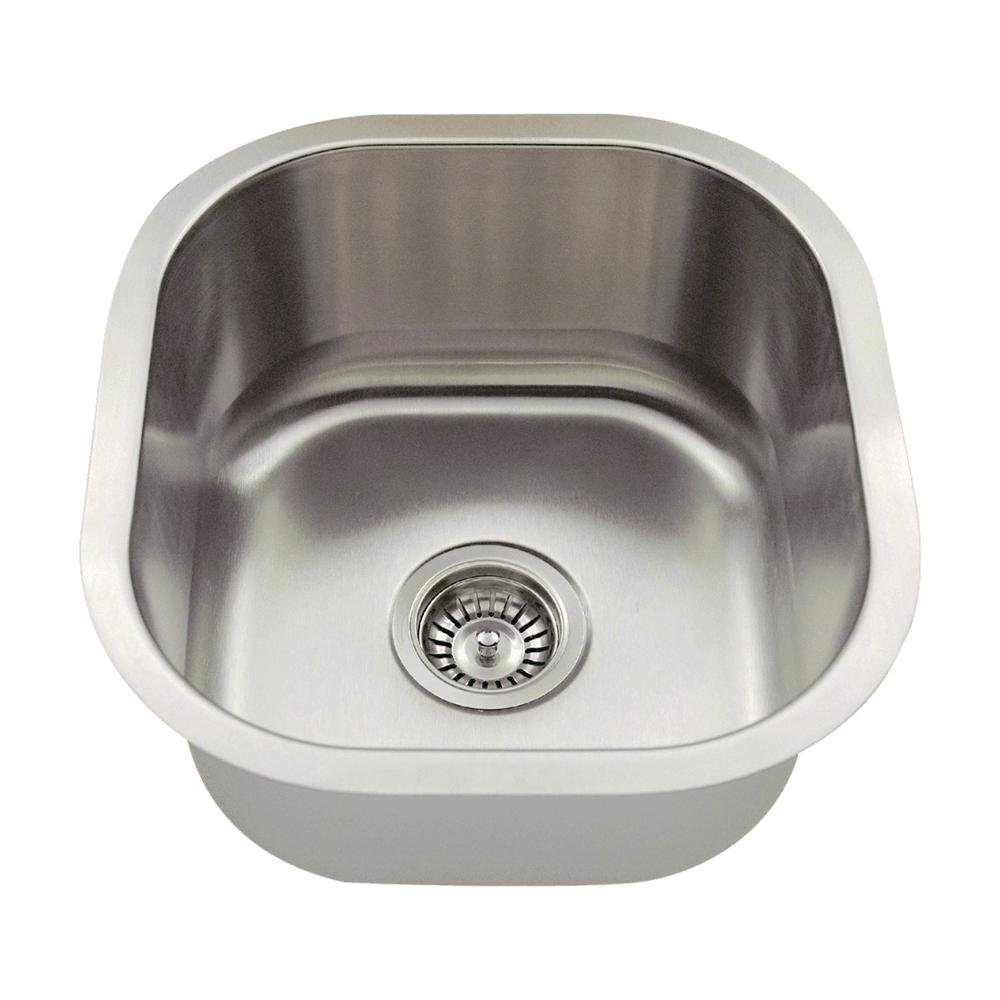 MR Direct 1716 16-Gauge Undermount Single Bowl Stainless Steel Bar Sink by MR Direct B009O8B32I   16 Gauge