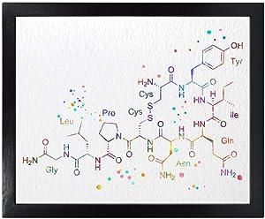 Dignovel Studios Unframed 8X10 Oxytocin Molecule Love Molecule Symbol Chemistry Watercolor Art Wedding Housewarming Nursery Kids Wall Art Giclee Office Home Decor Wall Hanging DN537