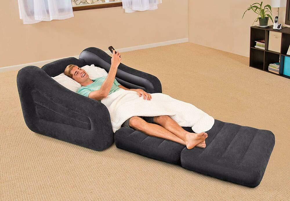 Chair Folding Convertible Bed Flip Sleeper Game Lounger Mattress 42''X87''X26'' G81486