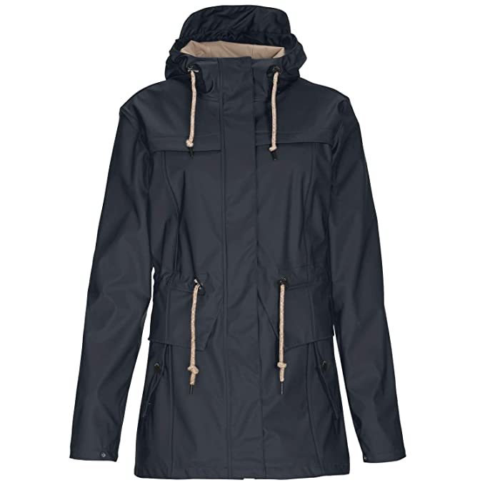 Regenjacke Damen dunkelnavy Gr. 40 Wetterjacke Parka Funktionsjacke Regenmantel Gr. 40 | Blau