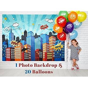 Amazoncom Superhero Cityscape Photography Backdrop And Studio