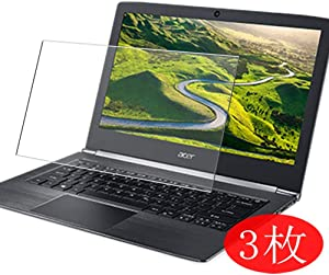 """【3 Pack】 Synvy Screen Protector for ACER Aspire S5-371 / S5-371T 13.3"""" TPU Flexible HD Film Protective Protectors [Not Tempered Glass]"""