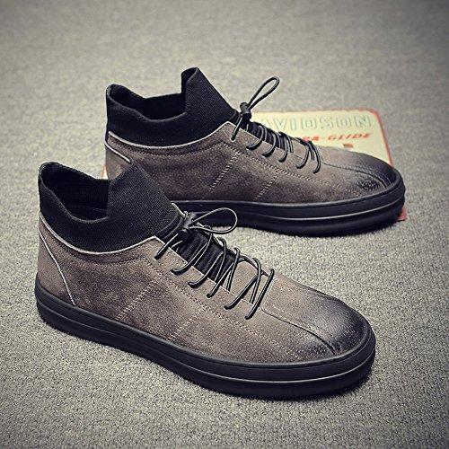 Xie Zi Men's Shoes Chaussures D'hiver Pour Hommes Version Coréenne De Souliers Simple D'homme British Stylish Men's Shoes Xxpp