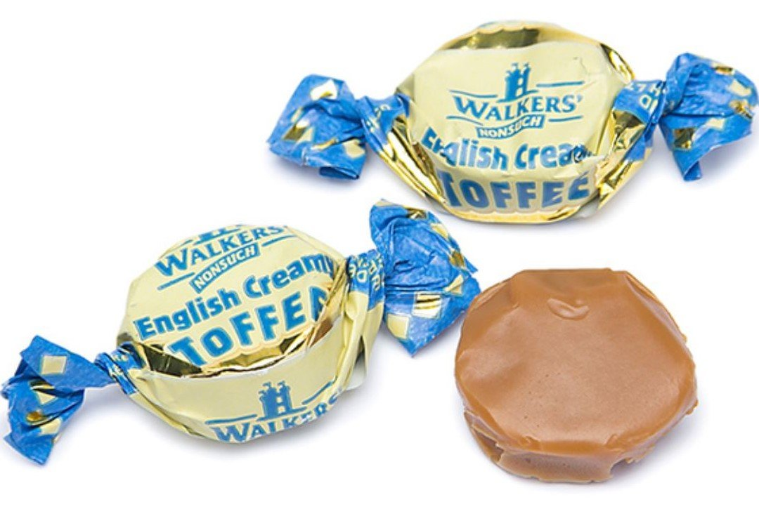 Walker's NONSUCH English Creamy Toffees (1 pound jar) by Walkers