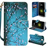 ZTE Grand X 3 Case Customerfirst Magnetic Leather Folio Flip Wallet Pouch With Fold Up Kickstand and Wrist Strap For Grand X 3 /Z959 Smartphone (Cricket) (Blossom Teal)