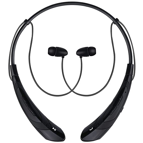 aaf148a211e Bummd Wireless Bluetooth Neckband Headphones with Microphone,V4.1 Stereo  Noise Cancelling Running Earphones