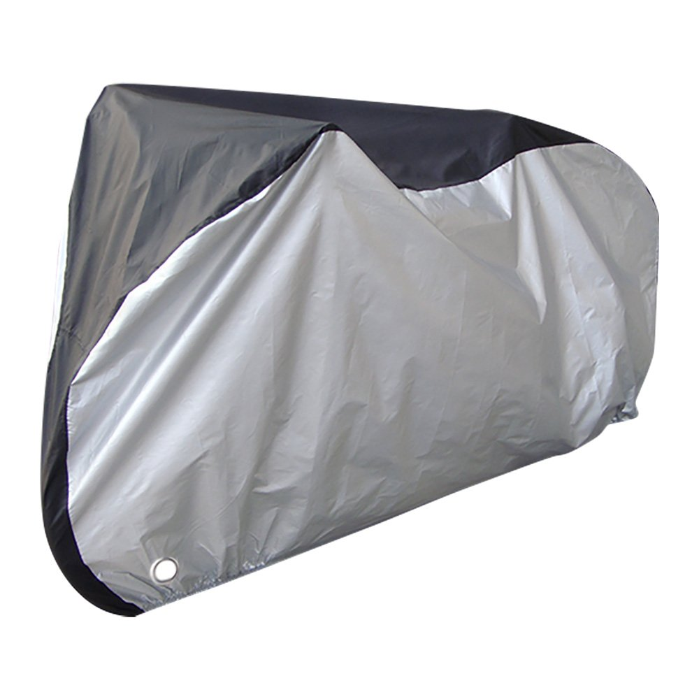 Bike Cover - Waterproof Bicycle Cover, Heavy Duty Outdoor Cycle Storage Bag, Anti-UV Protection with Anti Theft Lock Holes and Buckles, Includes Drawstring Bag, 107 x 43.3 x 51 Inches