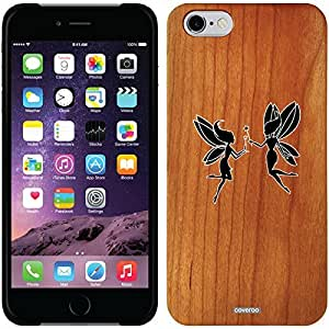 fashion case iphone 6 4.7 Madera Wood Thinshield Case with Dueling fairies Design