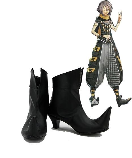 Uomo Amnesia Stivali Cosplay Scarpe Black Custom Orion Made qp6qAw74
