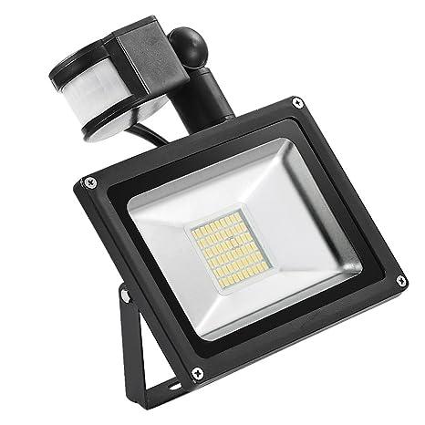 yunt 30 W LED de movimiento sensible de detector de inundación luz Foco Floodlight Foco Luz