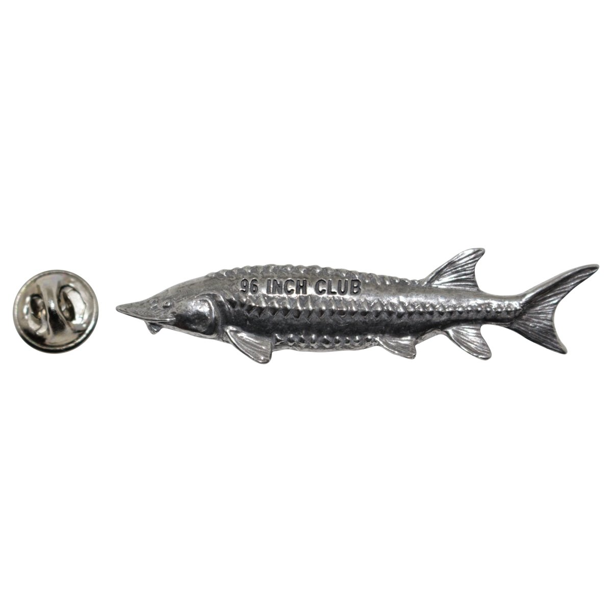 Sturgeon 96 Club Pewter Lapel Pin Fishing Trophy Jewelry P396
