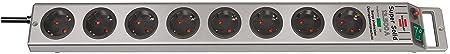 Brennenstuhl Super-Solid, Steckdosenleiste 8-fach mit Überspannungsschutz (2,5m Kabel und Schalter - aus bruchfestem Polycarb